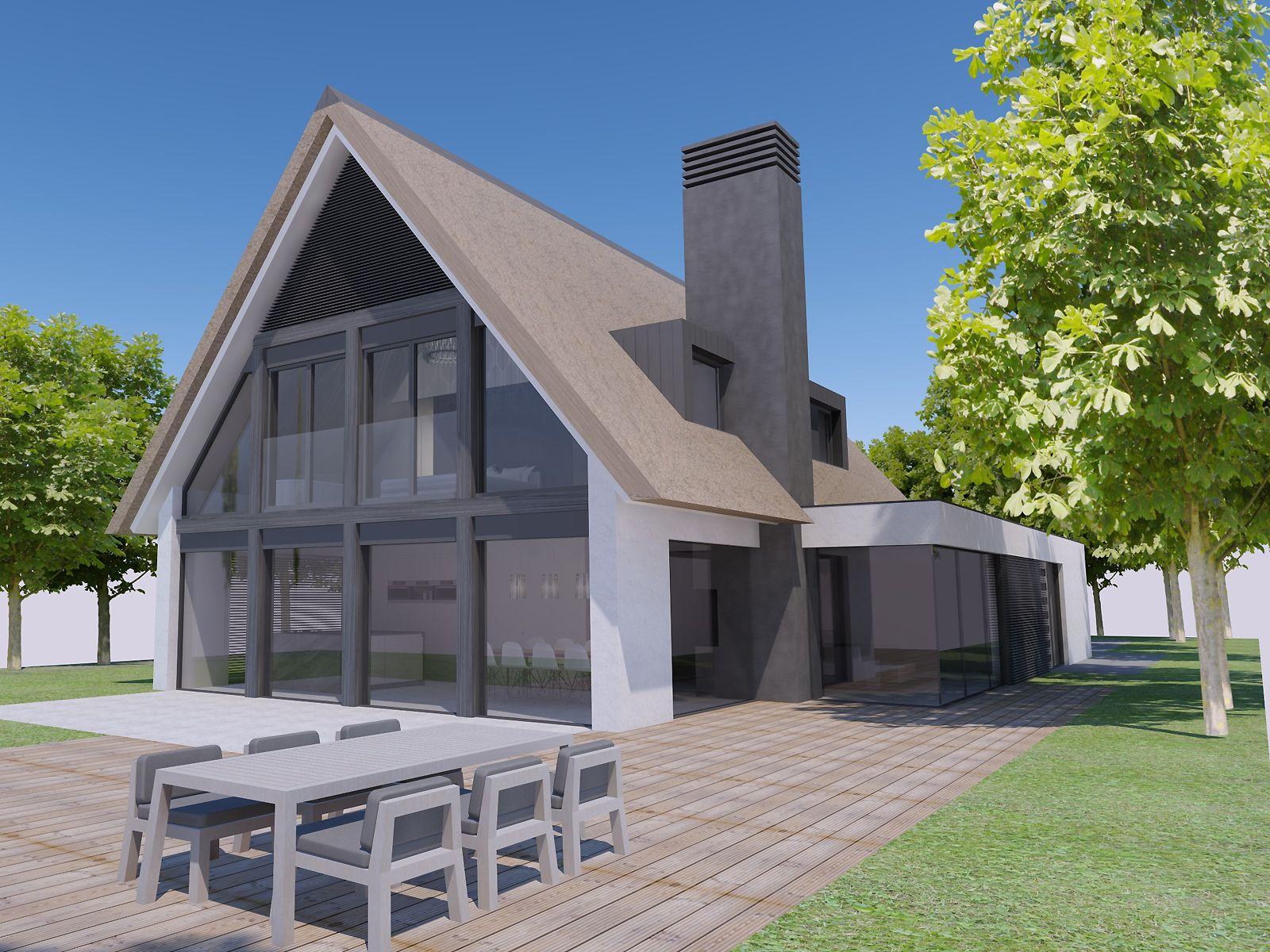 Architectuur vrijstaande woning zijaanbouw google zoeken huis pinterest architectuur - Zeer moderne woning ...