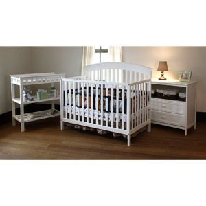 Summer Infant Fairfield Crib Changing Table And Dresser 3 Pc Set White