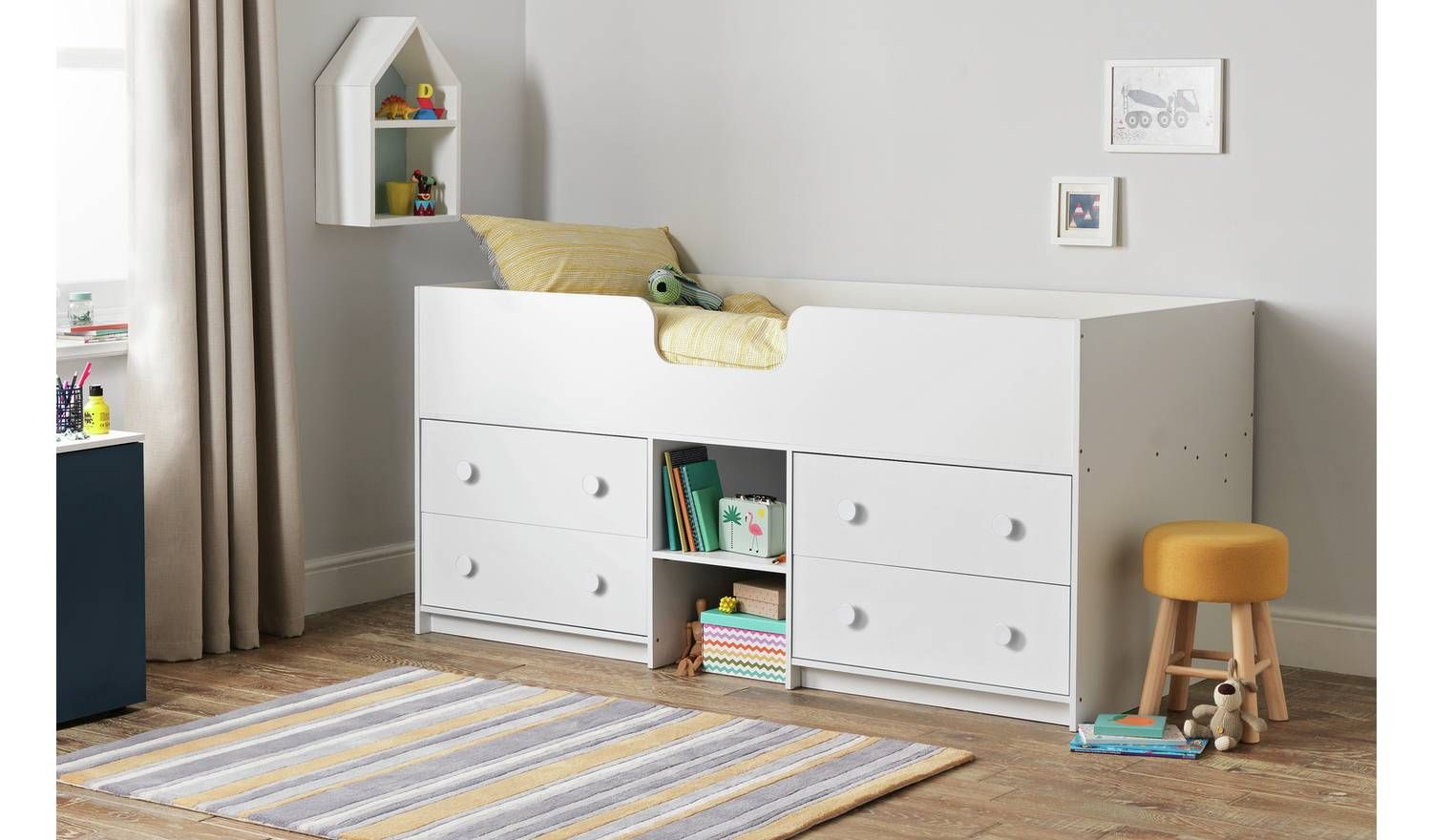 Buy Argos Home Jackson White Shorty Mid Sleeper Bed