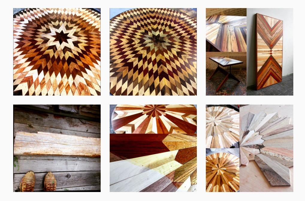 Деревянная мебель, похожая на лоскутное одеяло
