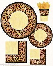cheetah print plates, napkins, and cups | Cheetah theme | Pinterest ...