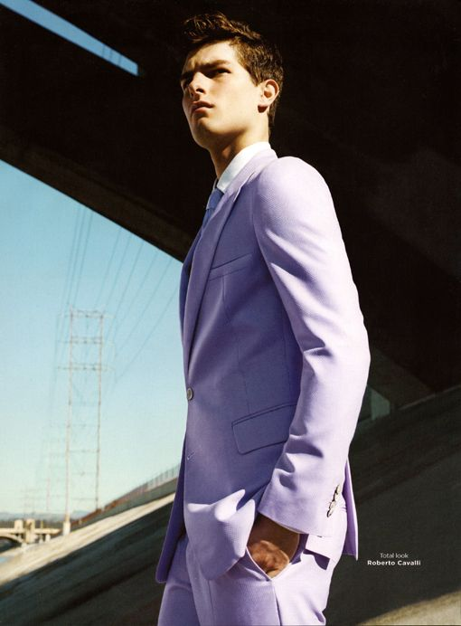 8ac4fc59 GQ Italia Roberto Cavalli Pastel Purple Suit. | How Men Should Dress ...