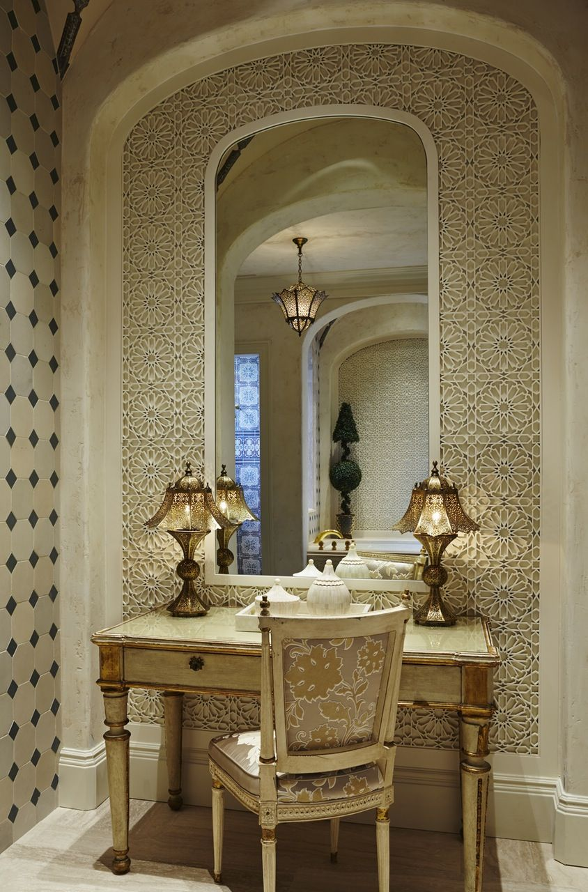 goldtoned rooms hall