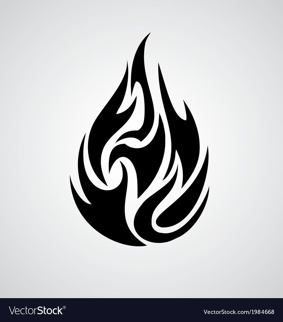 Tribal Fire Vector Image On Vectorstock Fire Vector Fire Tattoo Flame Tattoos
