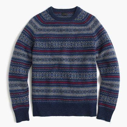 Lambswool Fair Isle sweater | lookbook | Pinterest
