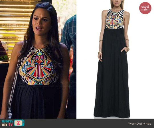 9a7a433b25e55 Zoe's multi colored patterned top maxi dress on Hart of Dixie. Outfit  Details: http