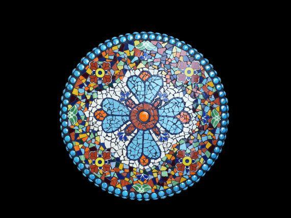 Mosaic Lazy Susan Wall Medallion Or Table By KateSutcliffeMosaics, $250.00