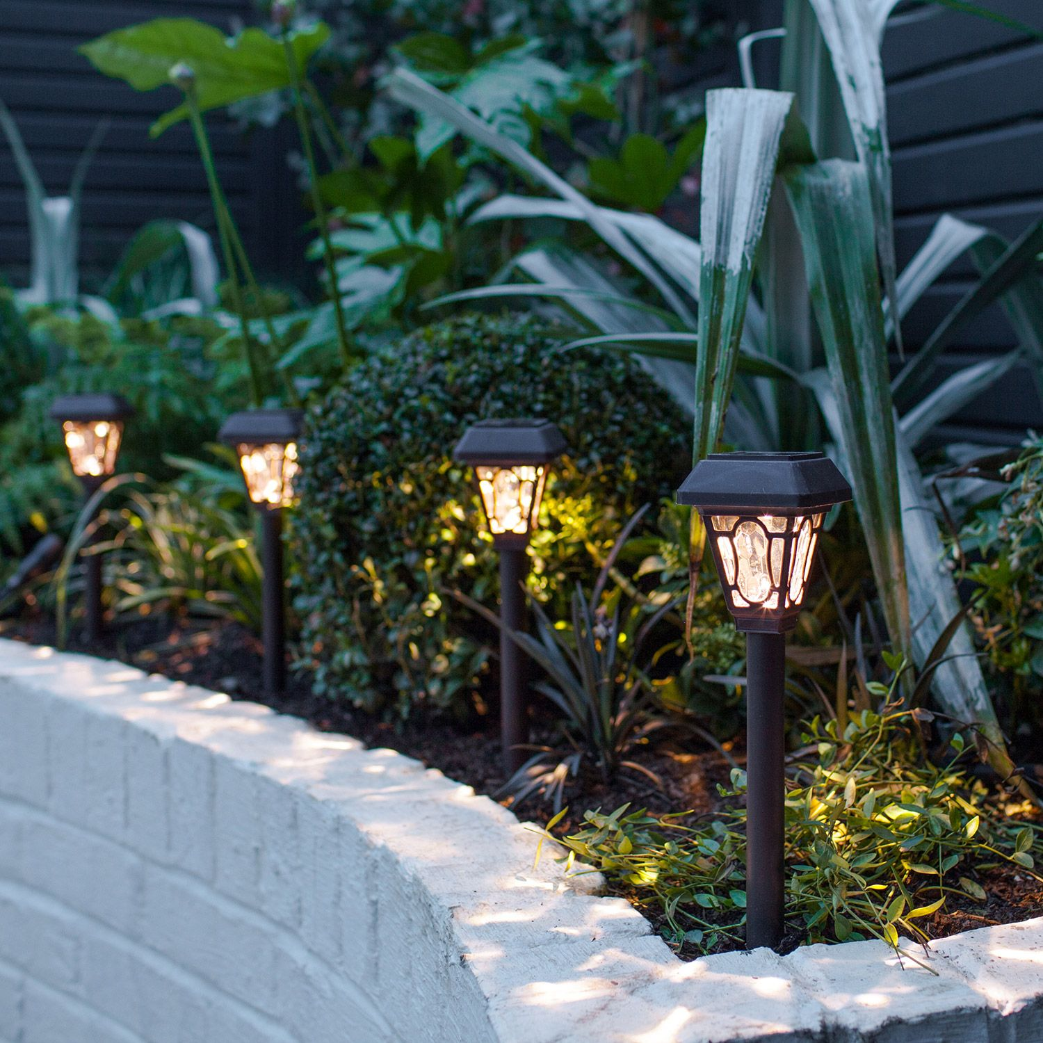 4 Edwardian Solar Stake Lights Solar Powered Garden Lights Solar Lights Garden Outdoor Solar Lights