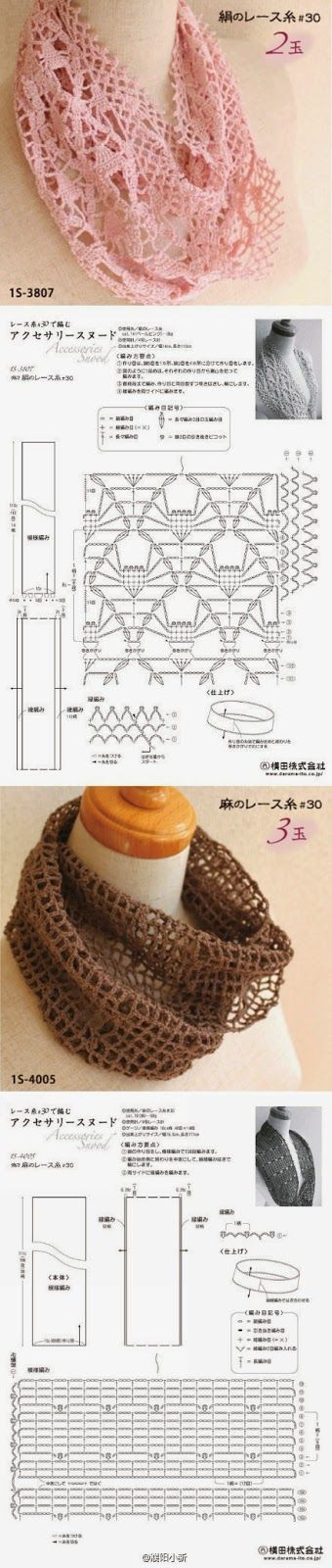 crochet patterns - jewelry, scarves, clothes, shoes and headbands ...