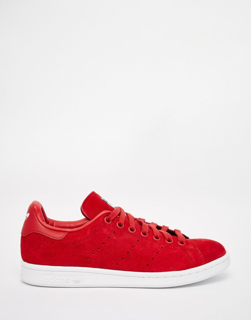 new style c914a 54ac8 Image 1 of adidas Originals X Rita Ora Red Stan Smith Trainers