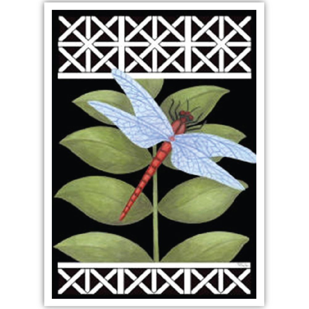 Dragonfly on Black Flag | Dragonflies, Flags and Products