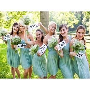 .@inspiredbythisblog | These bridesmaids posed for this pic and texted it to the groom before the we... | Webstagram - the best Instagram viewer