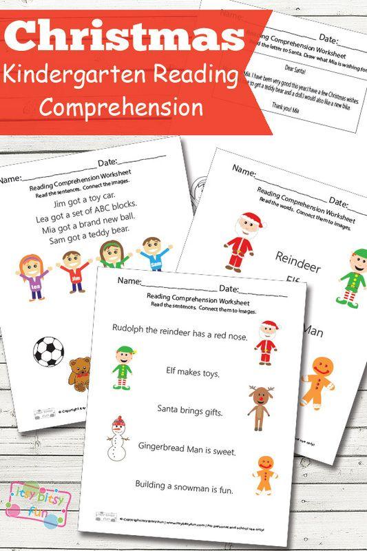 Christmas Reading Comprehension Worksheets For Kindergarten