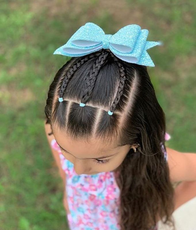 Little Girl Hairstyles Cute Braiding Hairstyles Cute Hairstyles For Kids Girls Natural ...