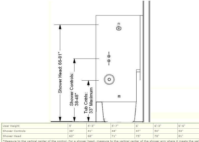 The Shower Controls Should Be Accessible From Both Inside And Outside The Shower Spray And Be Loc Shower Controls Interior Design Plan Master Bath Renovation
