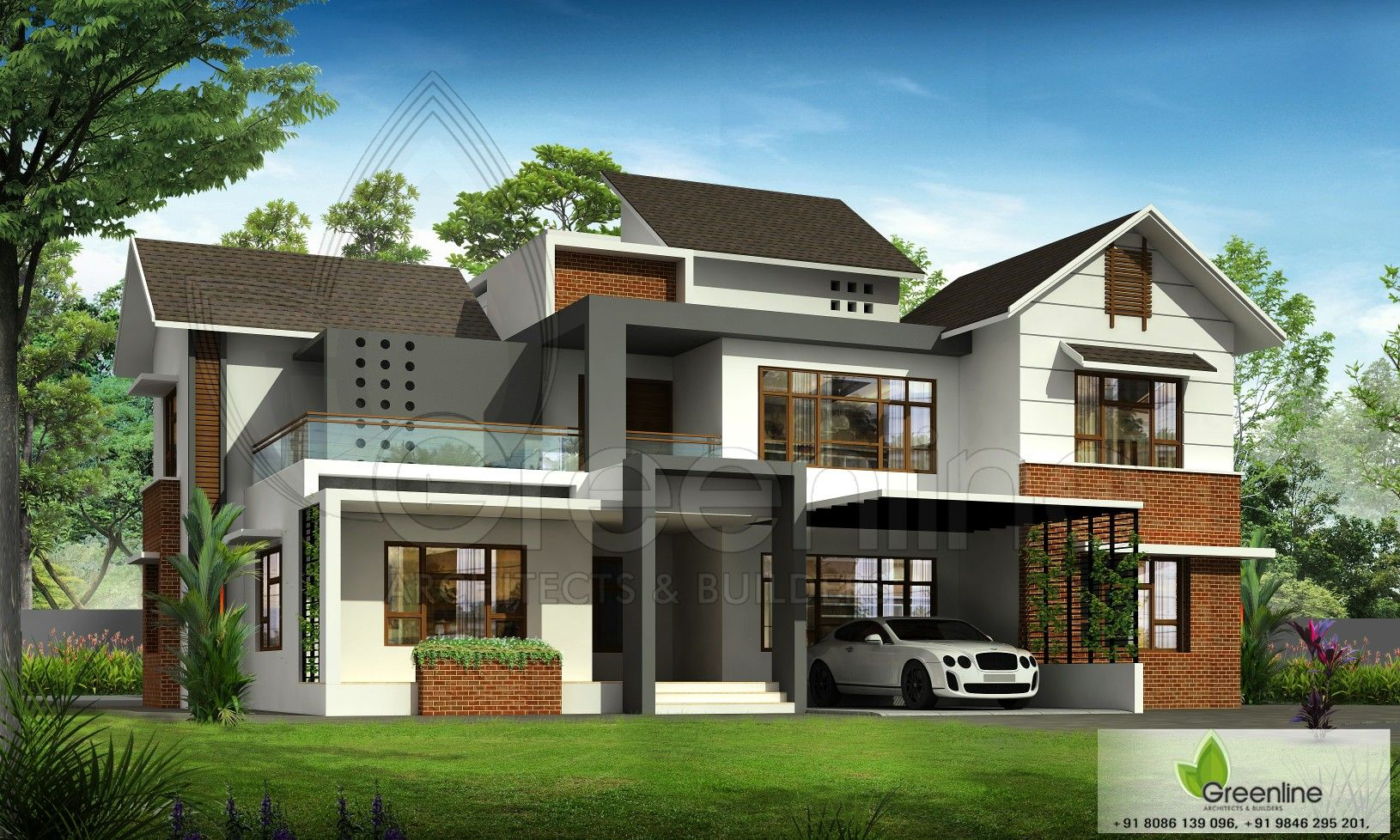 Modern Mixed Roof House Design Greenlinearchitects Modernarchitect Modernhomes Awasomeview Kerala House Design Architecture House Roof Architecture