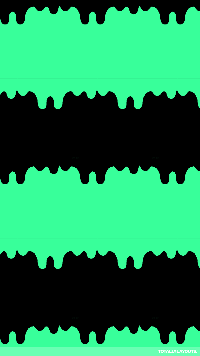 Black and teal dripping slime wallpaper Slime wallpaper