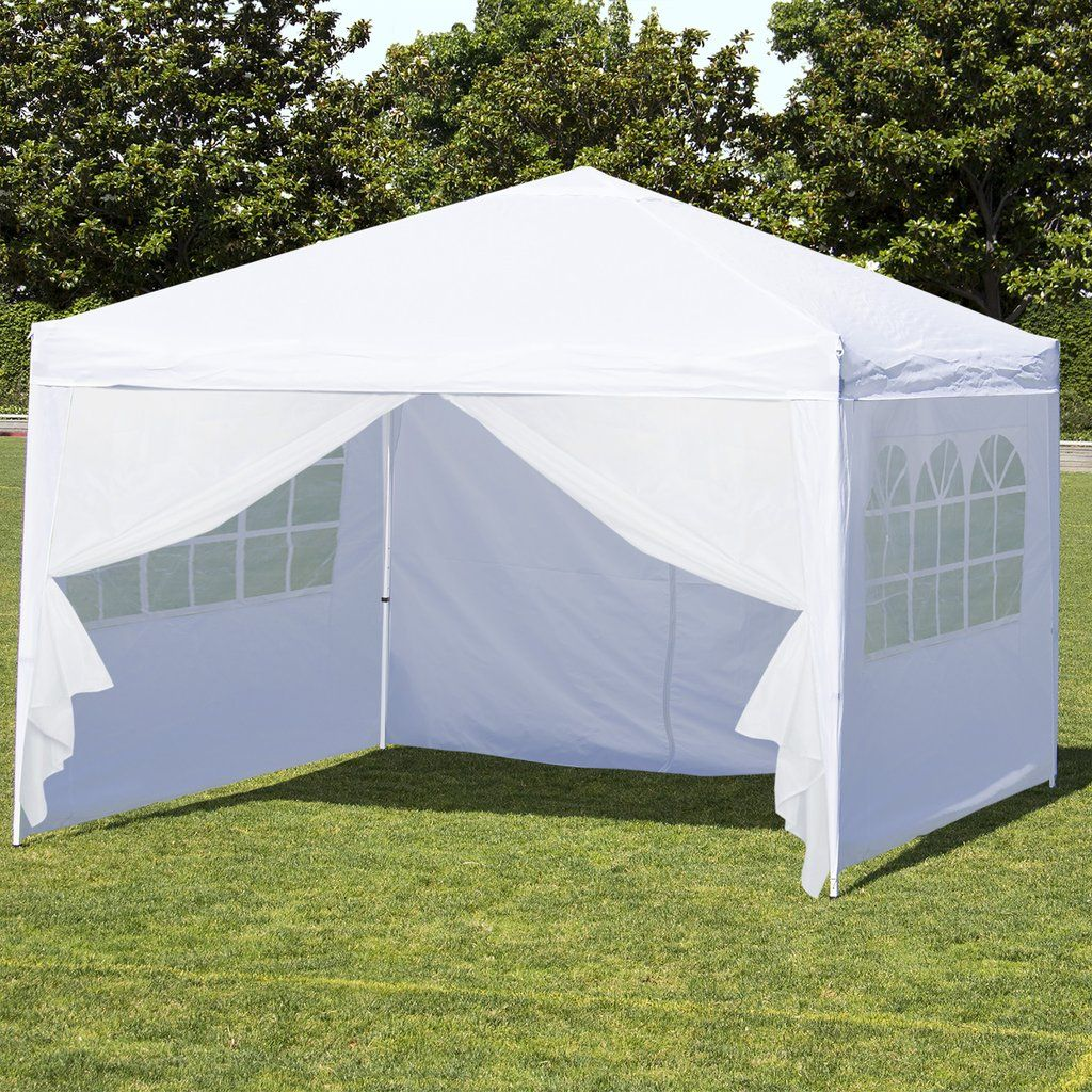 10u0027 x 10u0027 Pop Up Canopy w/ Carrying Case Side Walls - White & 10u0027 x 10u0027 Pop Up Canopy w/ Carrying Case Side Walls - White ...