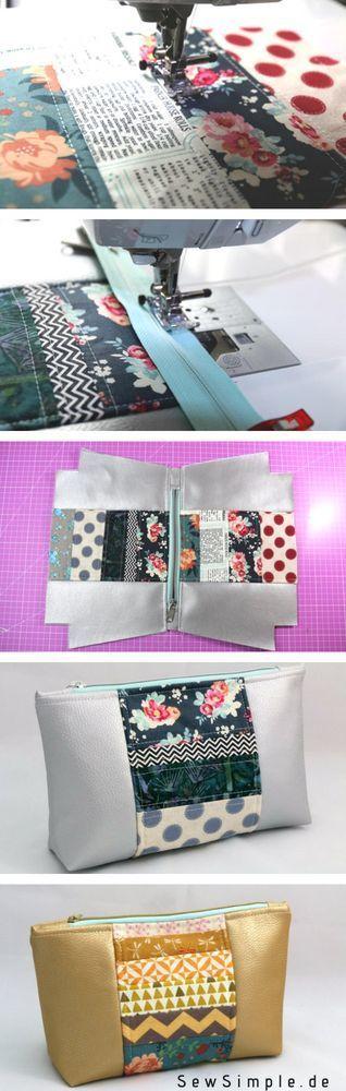 Instrucciones: bolsa de cosméticos con aspecto de patchwork