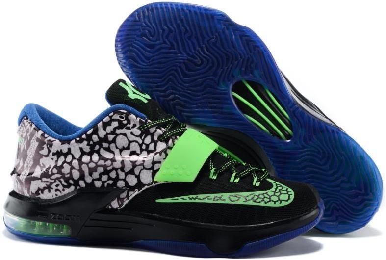 Nike Kd 7 Easter Lemon Black Green Blue Sneakers Shoes For Men