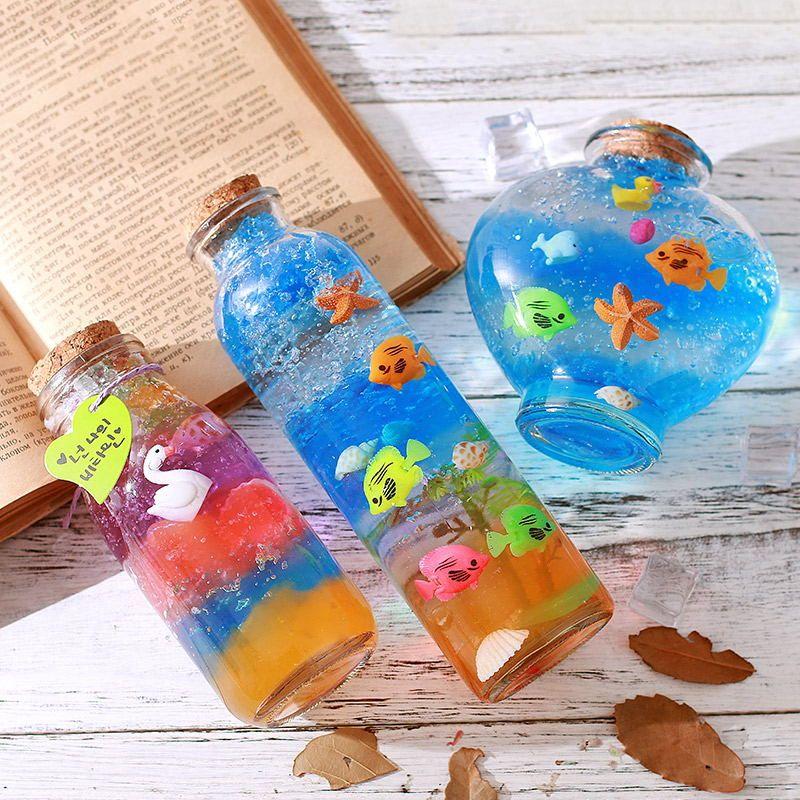 Rainbow Bottles Wishing Bottles Sensory Bottles Home Decoration