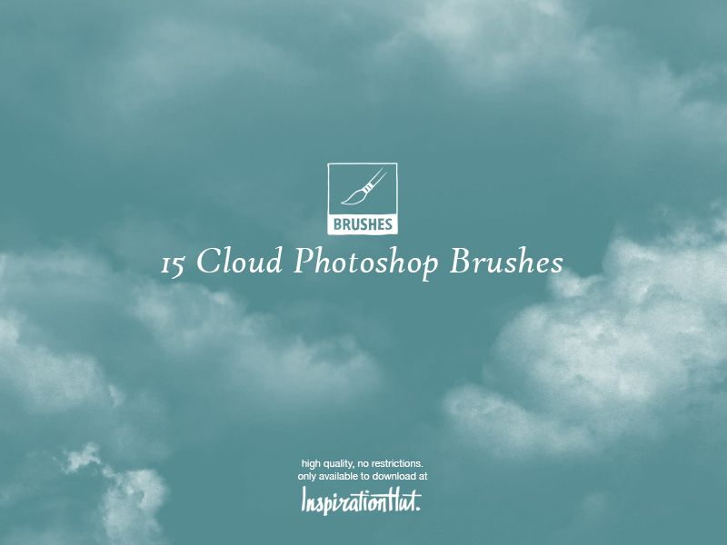 15 High Quality Cloud Photoshop Brushes | Diseño | Photoshop cloud