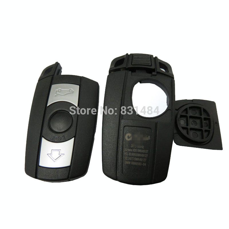 Remote 3 Button Key Case For Bmw 1 3 5 6 Series Smart Key Shell