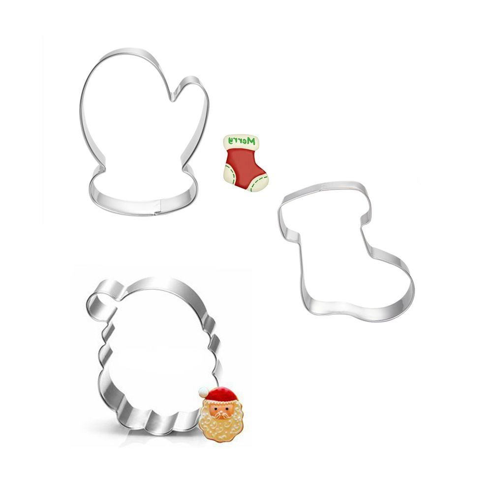 3pcs Christmas Cookie Cutter Toy Fruit Vegetable Biscuit Cutters Tools Cake Mold Bakery Kitchen Gadgets Sale Stainless Steel Price 499 FREE Shipping