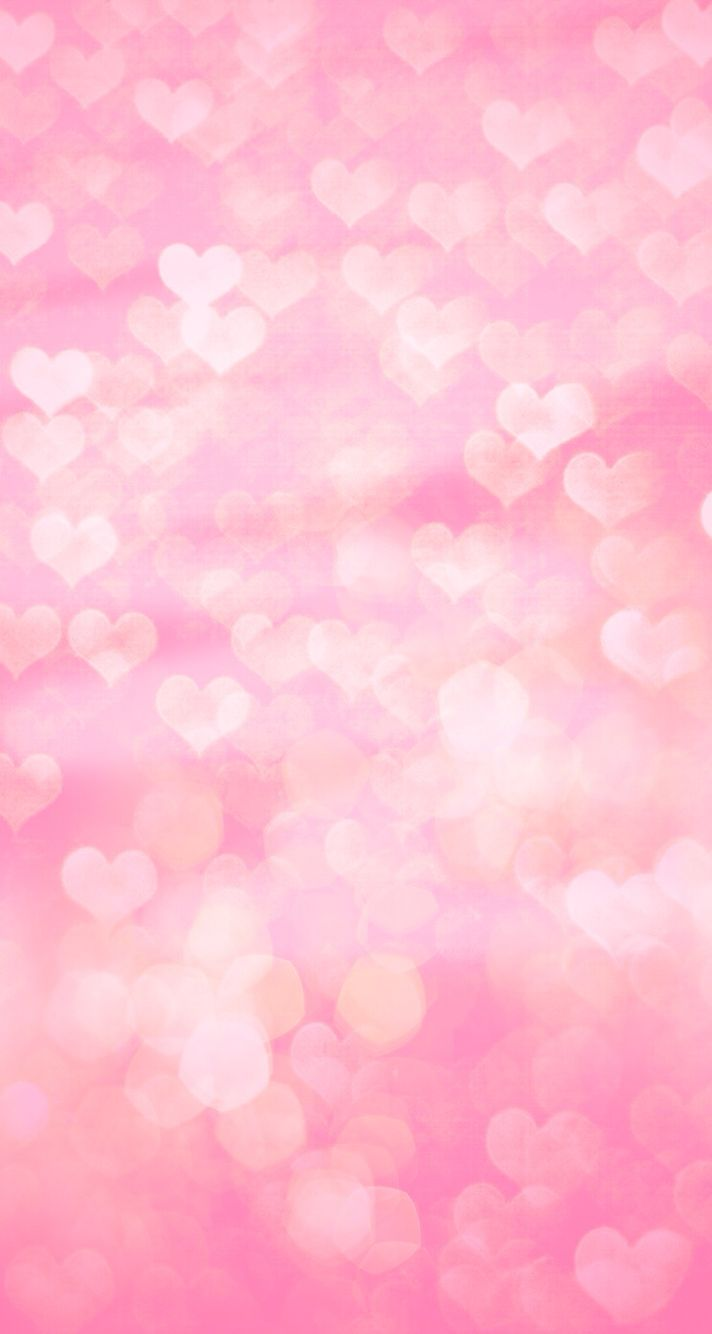 Pink Hearts Bokeh Iphone Wallpaper Backgrounds Phone Wallpapers