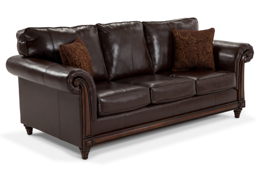 Bob S Leather Couch Sofa Living Room Furniture Sleeper