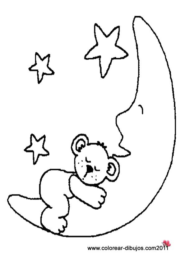 Dibujo De Osito En La Luna Dibujos De Osos