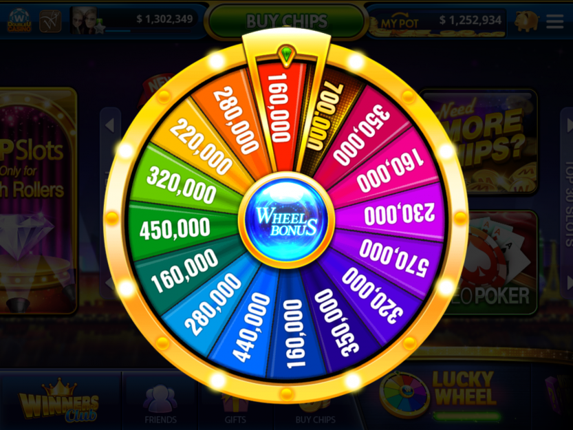 Wheel Bonus DoubleU Casino Casino, Bonus, Money machine