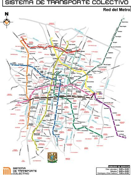 Map Of Mexico City S Subway System Travora Travel Tip Don T Be