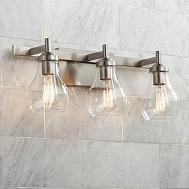 Possini Euro Danvers 21 W Brushed Nickel 3 Light Bath Light 47k16 Lamps Plus In 2020 Bathroom Light Fixtures Bath Light Nickel Light Fixtures