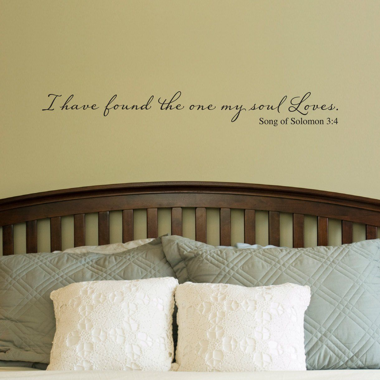 I have found the one my soul loves Wall Decal - Bible Scripture ...