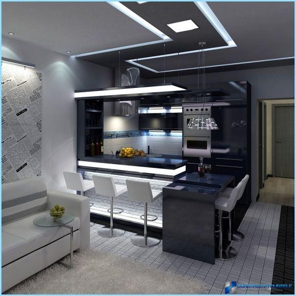 22 Beautiful Kitchen Design For Loft Apartment: Интериор хол с кухненски бокс 18, 20, 25 кв.м
