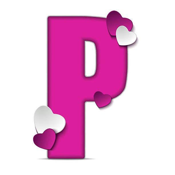 Buchstabe Letter P Valentines scrapbook, Valentine