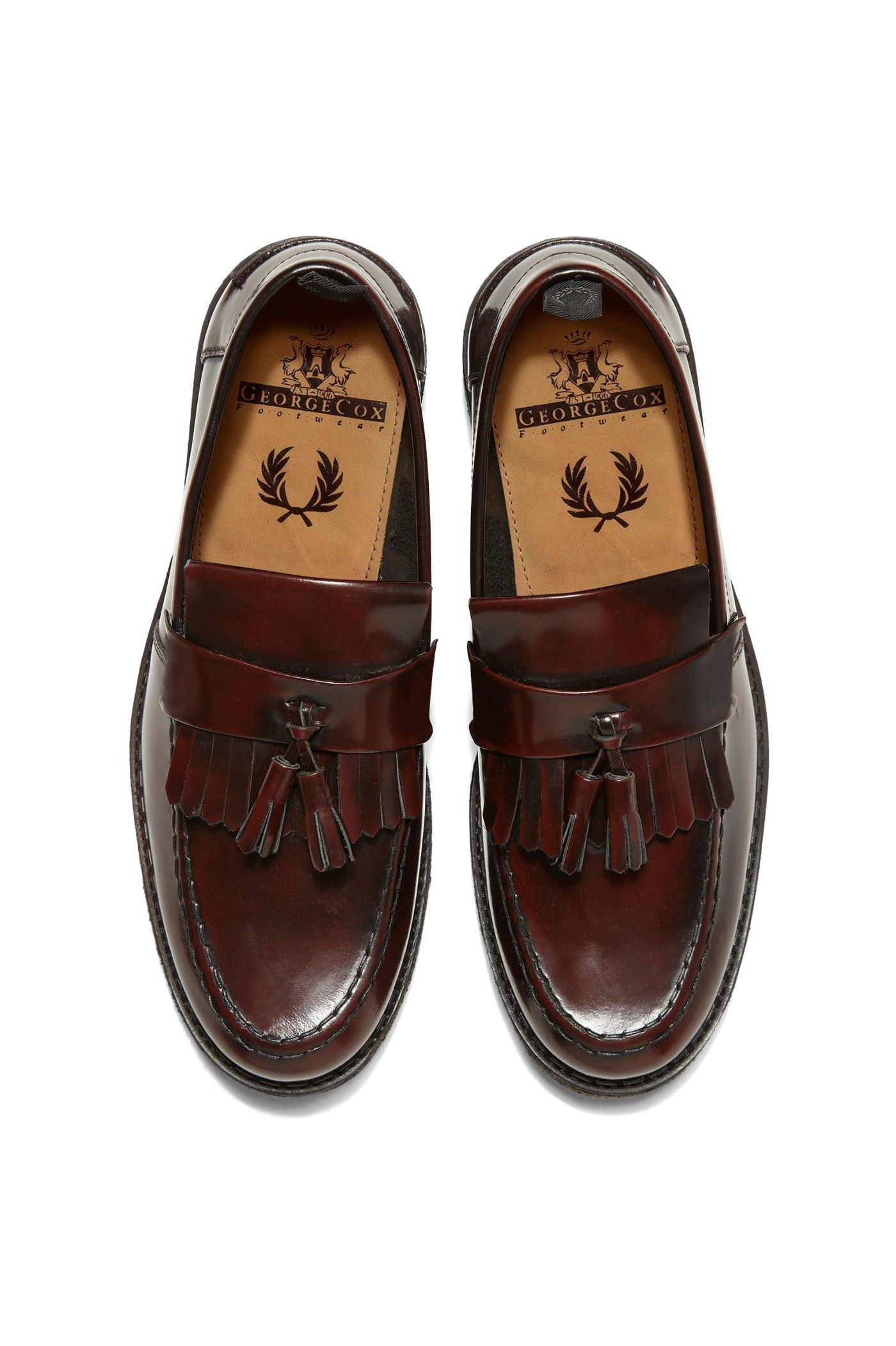 20ce95d4b482b Fred Perry - Fred Perry x George Cox Tassel Loafer Ox Blood