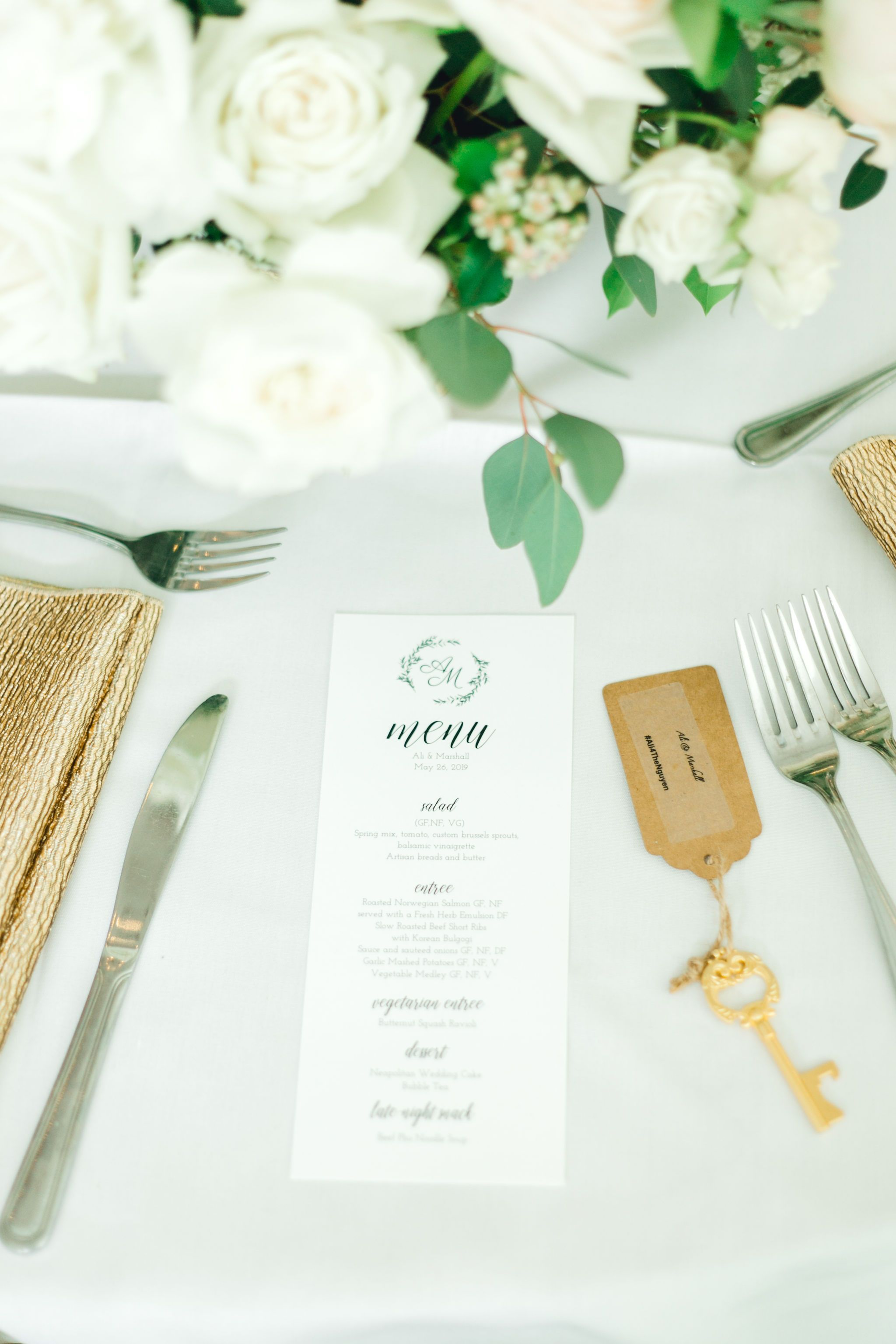 Gold and White Vietnamese Wedding Glamour & Grace in