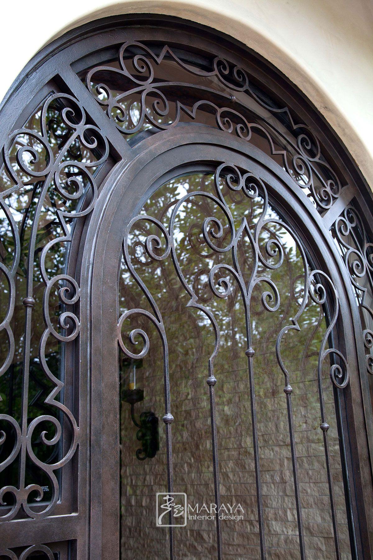 Wrought Iron Door Spanish Villas Tuscan Doors Wrought Iron Doors