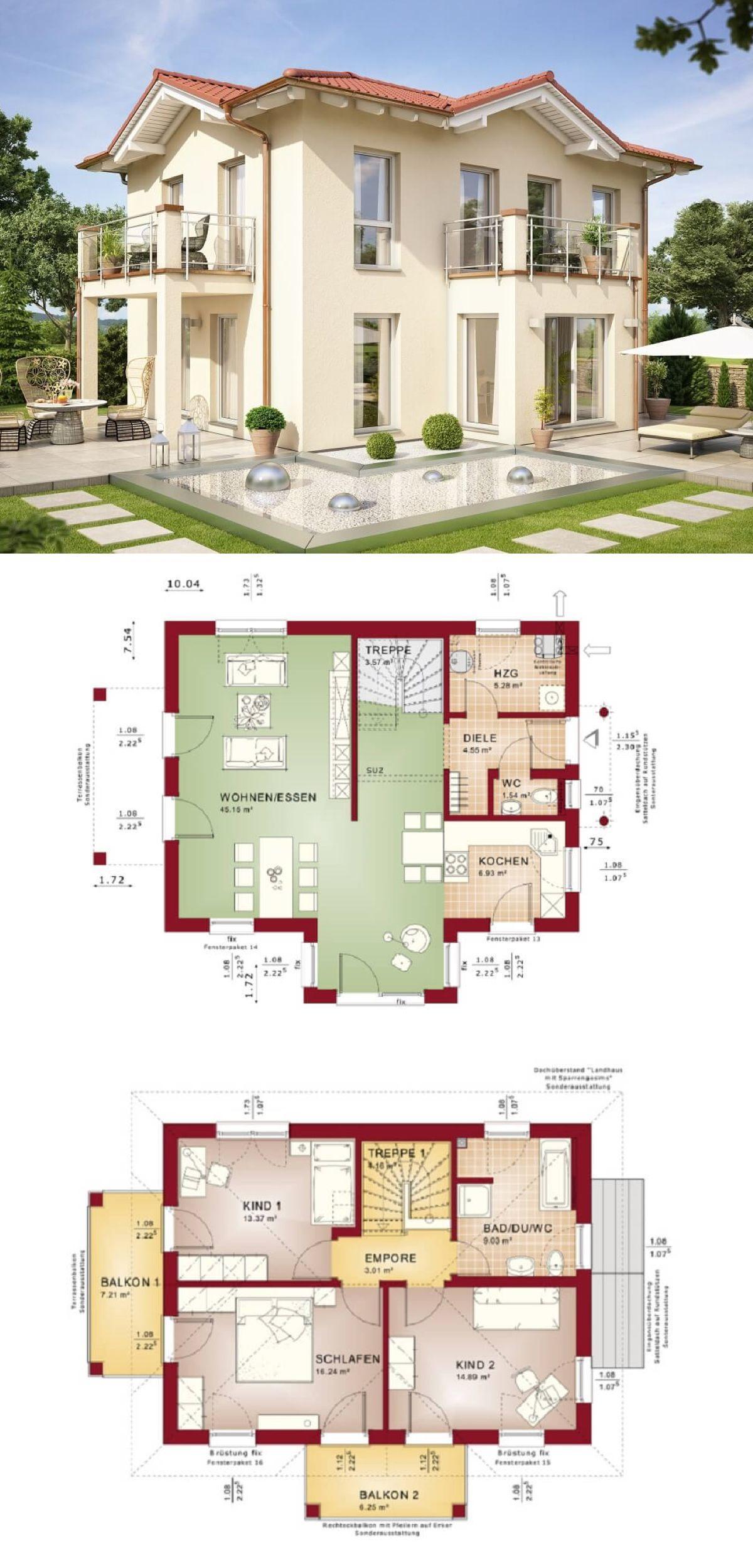 Mediterrane Stadtvilla Evolution 122 V15 Bien Zenker ...