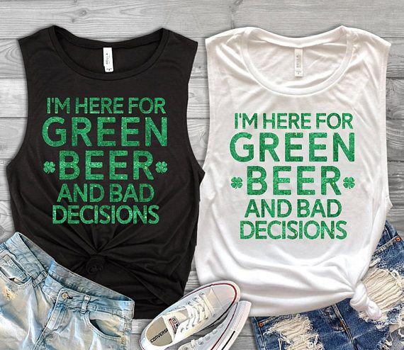 St Patricks Day Shirt Womens green beer muscle shirt Womens 63d0229291