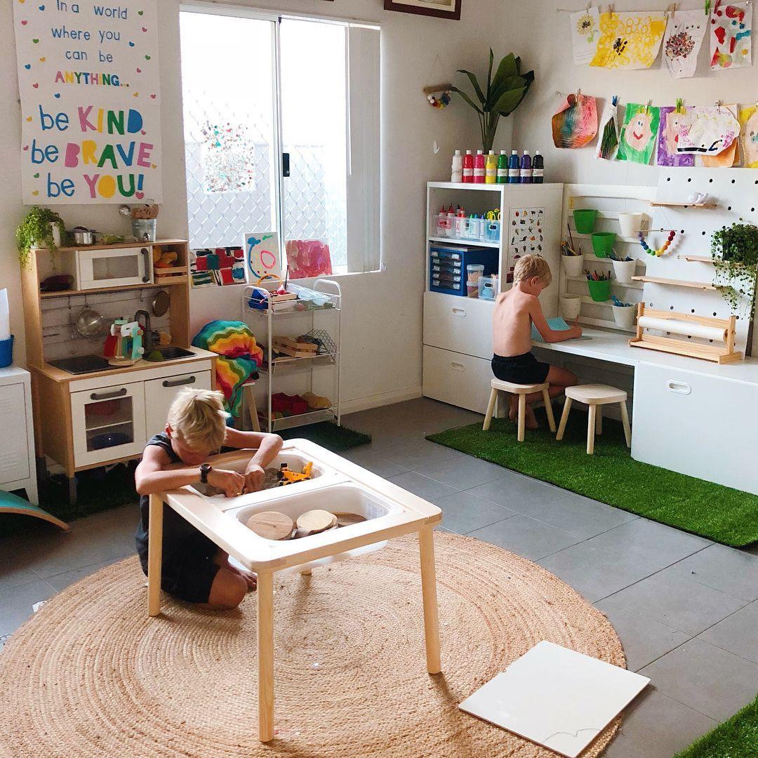 Sensory Play Is Vital To Cognitive Development Kid Room Decor Playroom Design Kids Play Room Organization