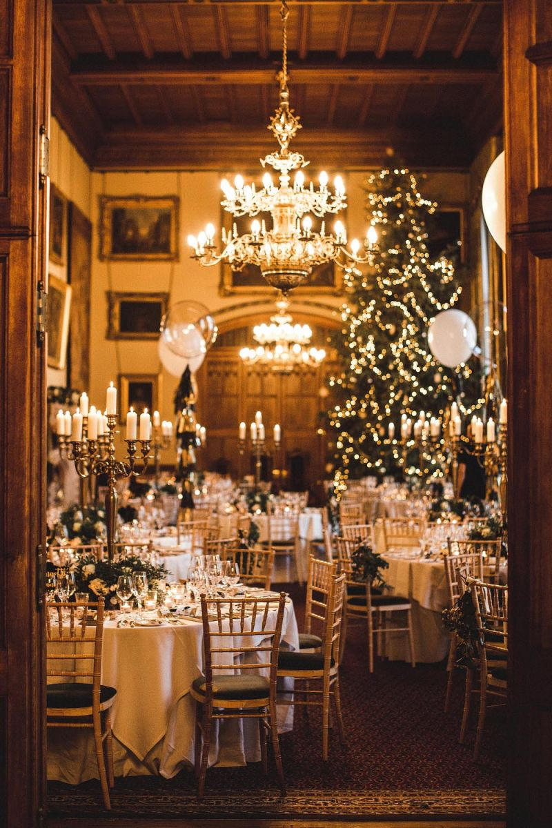 Same-Sex Winter Wedding and Harry Potter Table Names