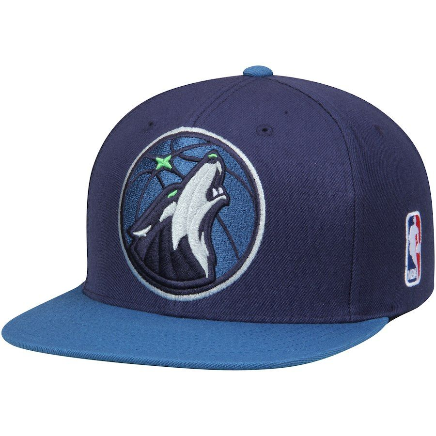 quality design 5851e 619cb Men s Minnesota Timberwolves Mitchell   Ness Navy Blue XL Team Logo Two-Tone  Adjustable Snapback Hat, Your Price   25.99