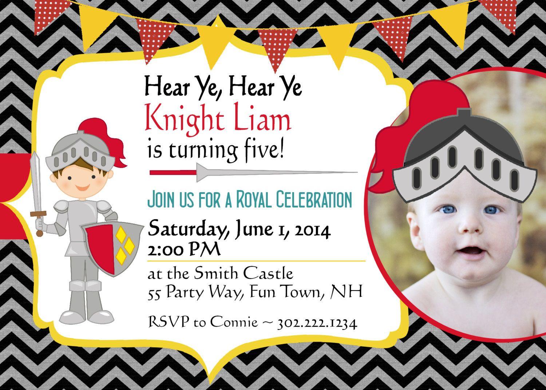 Knight Birthday Invitation Knight Party Knight Invitations Printable ...