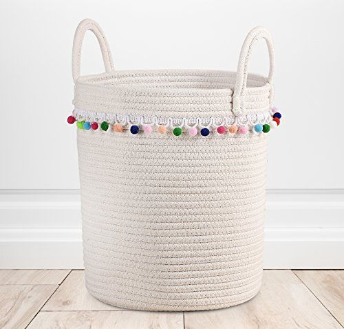 Toy Storage Ideas Baskets Cotton Rope Woven Organizer Nursery Decor For Kids Laundry Click Image To Review More Details