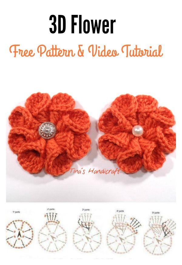 How to Crochet 3D Flower Granny Square Baby Blanket   Crochet ...