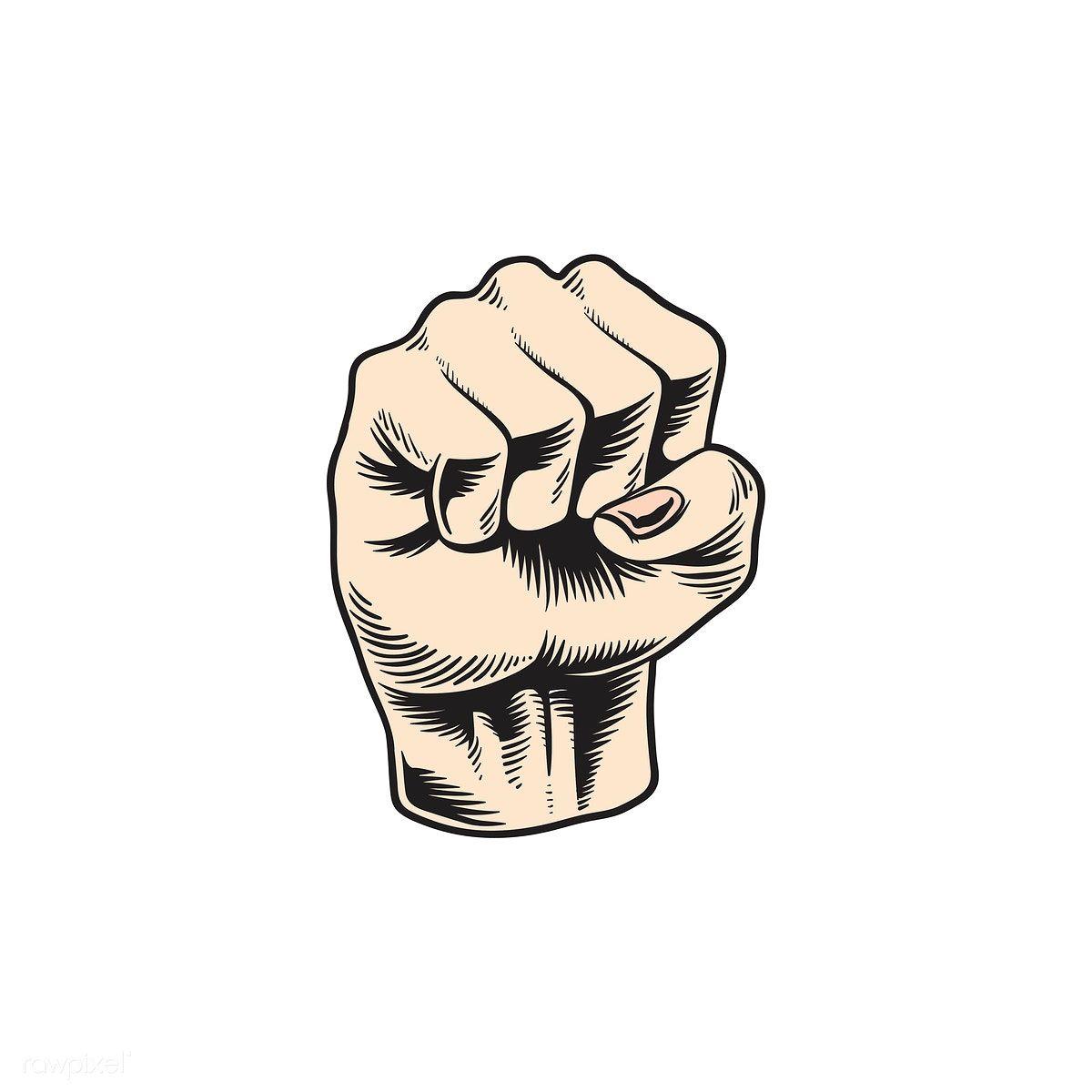 Illustration Of Power Fist Icon Free Image By Rawpixel Com Tvzsu Wallpaper Ponsel Tangan