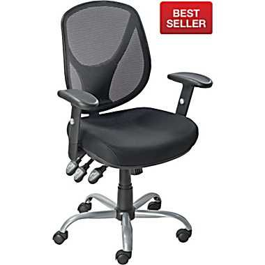 acadia ergonomic mesh mid back office chair with arms black rh pinterest ca